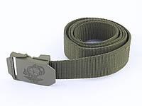 Брючний брезентовий ремінь ширина 30 мм Mil-tec USMC олива, фото 1