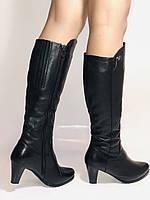 Натуральный мех. Зимние сапоги на среднем каблуке. Натуральная кожа. Люкс качество. Molka. Р.37.38, фото 6