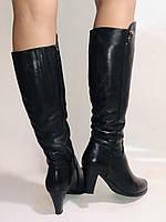 Натуральне хутро. Зимові чоботи на середньому каблуці. Натуральна шкіра. Люкс якість. Molka. Р. 37.38, фото 10