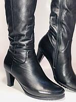 Натуральне хутро. Зимові чоботи на середньому каблуці. Натуральна шкіра. Люкс якість. Molka. Р. 37.38, фото 8