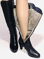 Натуральне хутро. Зимові чоботи на середньому каблуці. Натуральна шкіра. Люкс якість. Molka. Р. 37.38, фото 7
