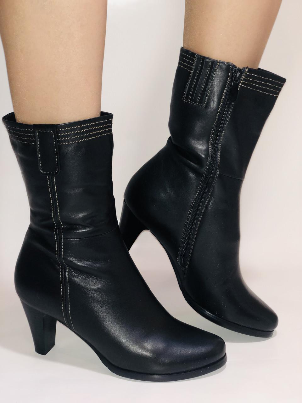 Натуральне хутро. Зимові черевики на середньому каблуці. Натуральна шкіра. Люкс якість. Molka. Р. 37.38