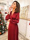 Шелковое платье на запах длиной миди с длинными рукавами (р.42-46) 22plt1740, фото 6