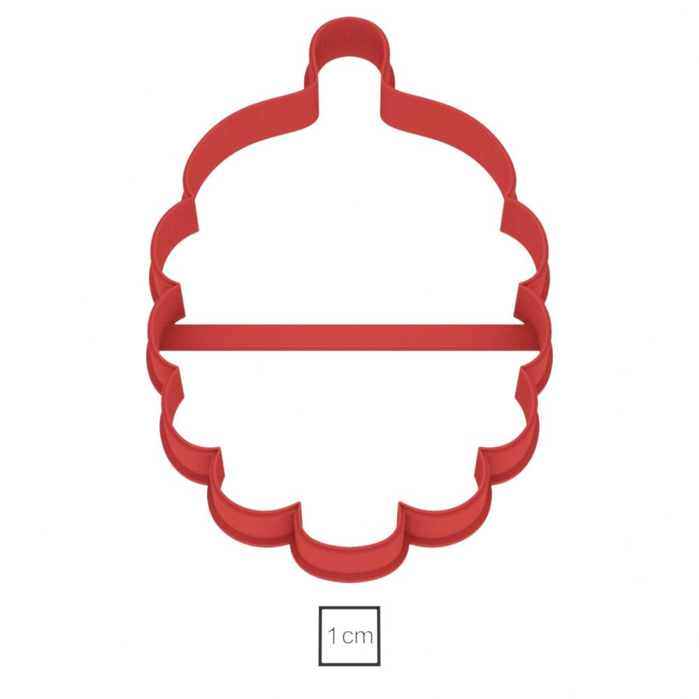 Висічка для пряників у вигляді ялинкової прикраси шишки