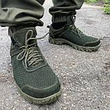 Кросівки олива перфорація, фото 2