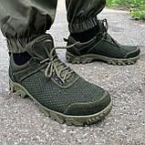 Кросівки олива перфорація, фото 3