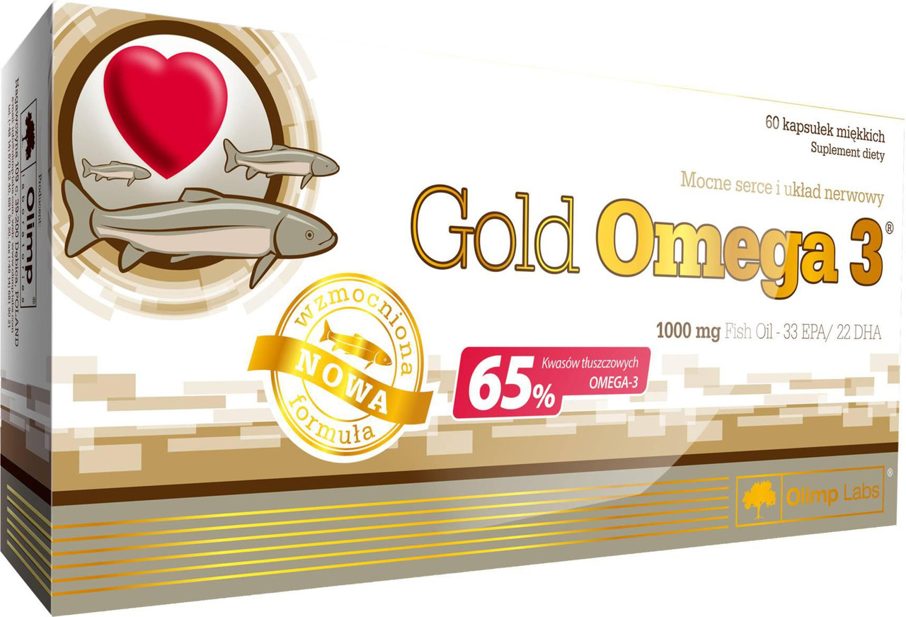 Рыбий жир  Gold Omega-3 65% Olimp Labs (60 капс.)