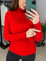 Женский вязаный гольф с ажурной вязкой на рукавах и горловине (р. 42 - 46) 33dmde1027, фото 1