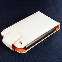 Чехол-книжка для Apple iPhone 3G iPhone 3GS, вертикальный, белый (Натуральная кожа) /flip case/флип кейс /айфон