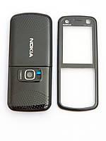 Корпус для Nokia 5320 Xpress Music, High Copy, Черный с голубой средней частью /панель/крышка/накладка /нокиа