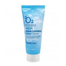 Кислородная пенка для умывания FarmStay O2 Premium Aqua Foam Cleansing