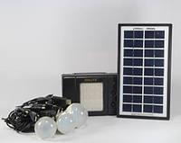 Фонарик  с солнечной батареей   USB порт   3 подвесные лампочки  USB кабель с переходниками GD 8076