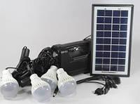 Фонарик  с солнечной батареей, USB порт, 4 подвесные лампочки, USB кабель с переходниками, GD 8038