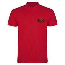 Мужское поло Киа, футболка с воротником Киа