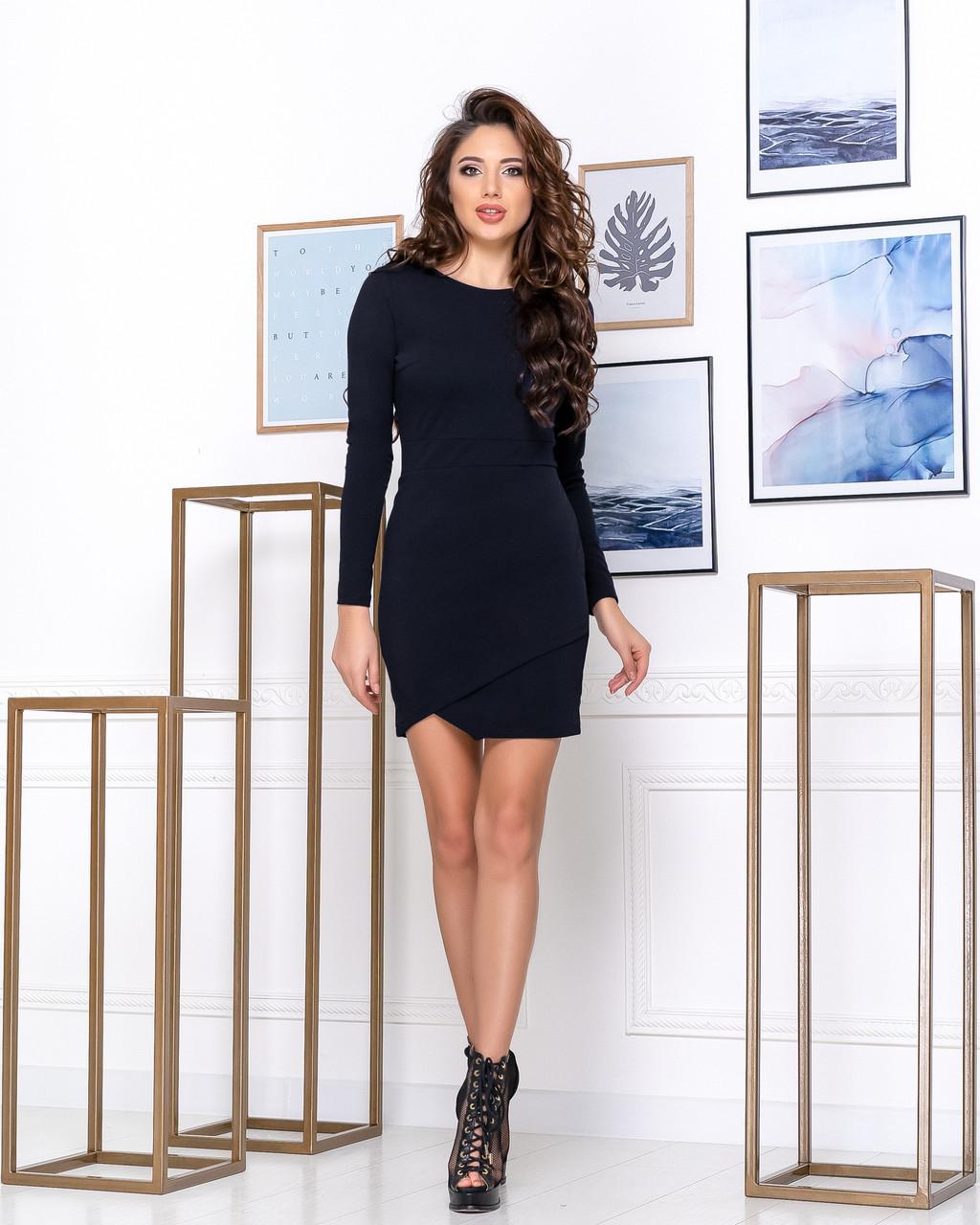 Приталенное женское платье выше колена Футляр