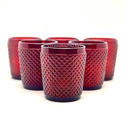 Стакан стеклянный для напитков 250 мл, красный