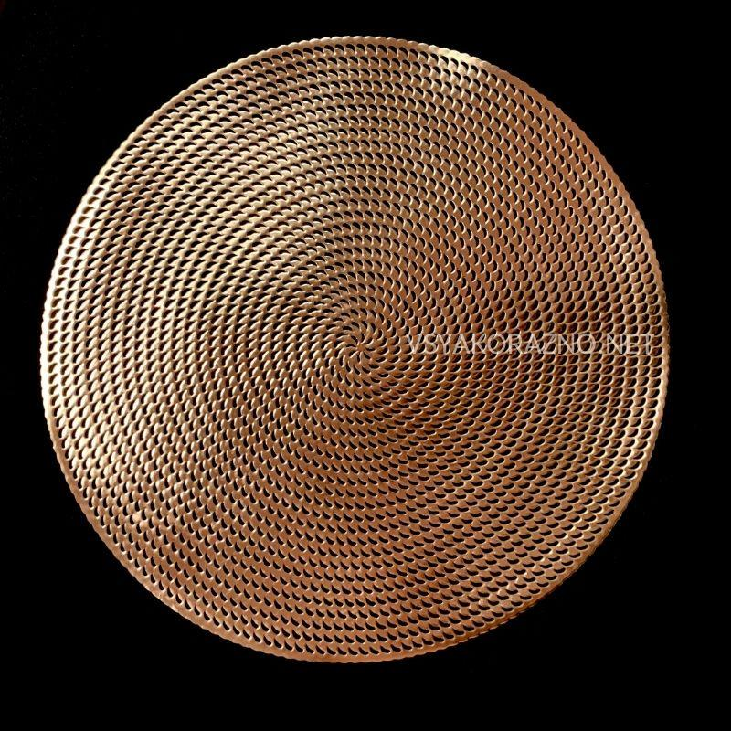 Сервировочный коврик  40см, Золотой