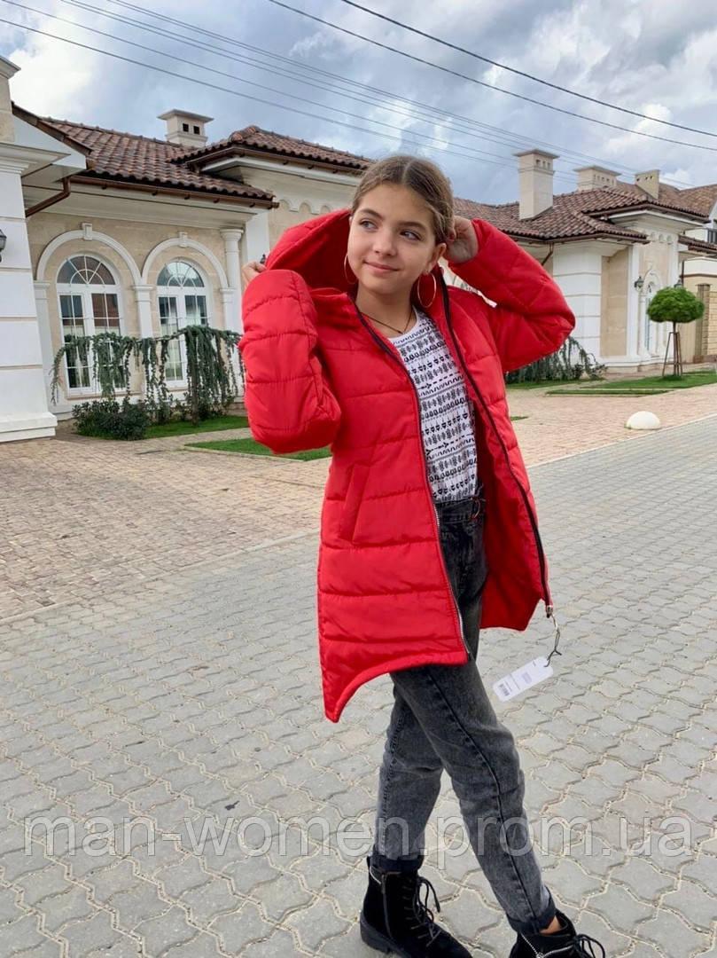 Дитяча подовжена куртка Євро зима! ! Р. 134-152. Нова!