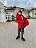 Дитяча подовжена куртка Євро зима! ! Р. 134-152. Нова!, фото 7