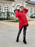 Дитяча подовжена куртка Євро зима! ! Р. 134-152. Нова!, фото 3