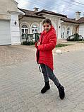 Дитяча подовжена куртка Євро зима! ! Р. 134-152. Нова!, фото 4