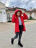 Дитяча подовжена куртка Євро зима! ! Р. 134-152. Нова!, фото 5