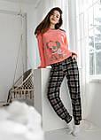 Стильна піжама молодіжна с кораловой кофтой,Nikoletta, фото 2