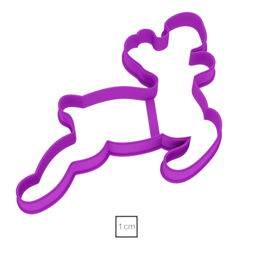 Висічка для пряників у вигляді оленя, котрий біжить