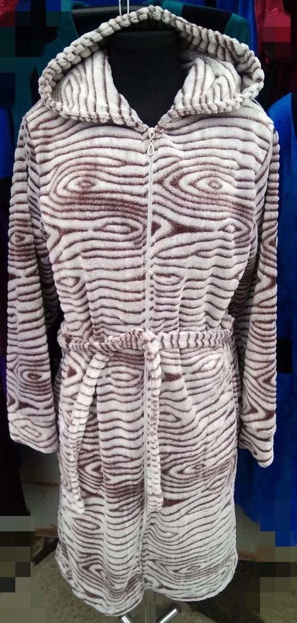 Женский махровий халат