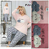 Пижама с длинными штанами, батал, фото 2