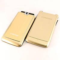 Корпус для Samsung S3600, High Copy, AAA class, Золотистый /панель/крышка/накладка /самсунг/