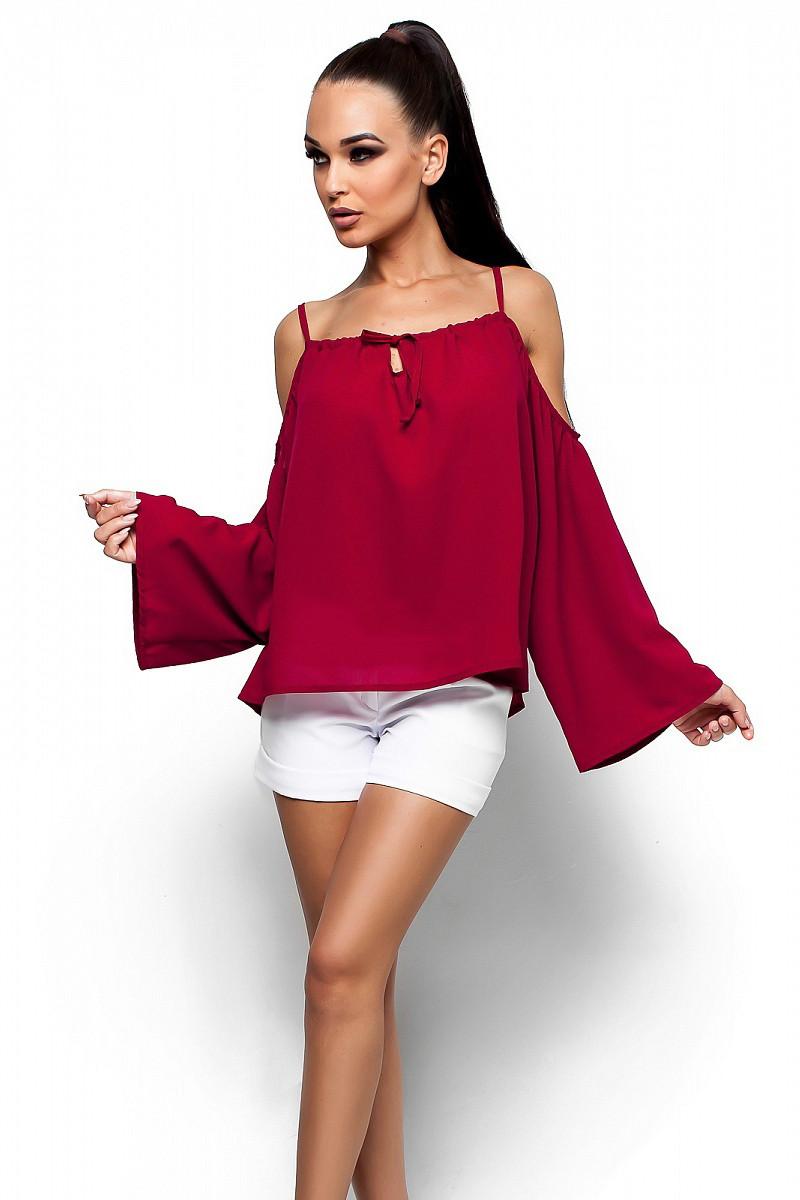 S-M | Жіноча вільна блузка Yanina, марсала