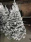 Елка Президентская заснеженная 2.1 м искусственная литая с подставкой, новогодняя снежная литая ель, фото 2