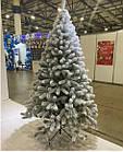 Елка Президентская заснеженная 2.1 м искусственная литая с подставкой, новогодняя снежная литая ель, фото 3