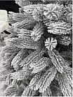 Елка Президентская заснеженная 2.1 м искусственная литая с подставкой, новогодняя снежная литая ель, фото 5