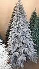 Елка Президентская заснеженная 2.1 м искусственная литая с подставкой, новогодняя снежная литая ель, фото 6