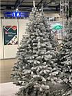 Елка Президентская заснеженная 2.1 м искусственная литая с подставкой, новогодняя снежная литая ель, фото 7