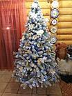 Елка Президентская заснеженная 2.1 м искусственная литая с подставкой, новогодняя снежная литая ель, фото 10
