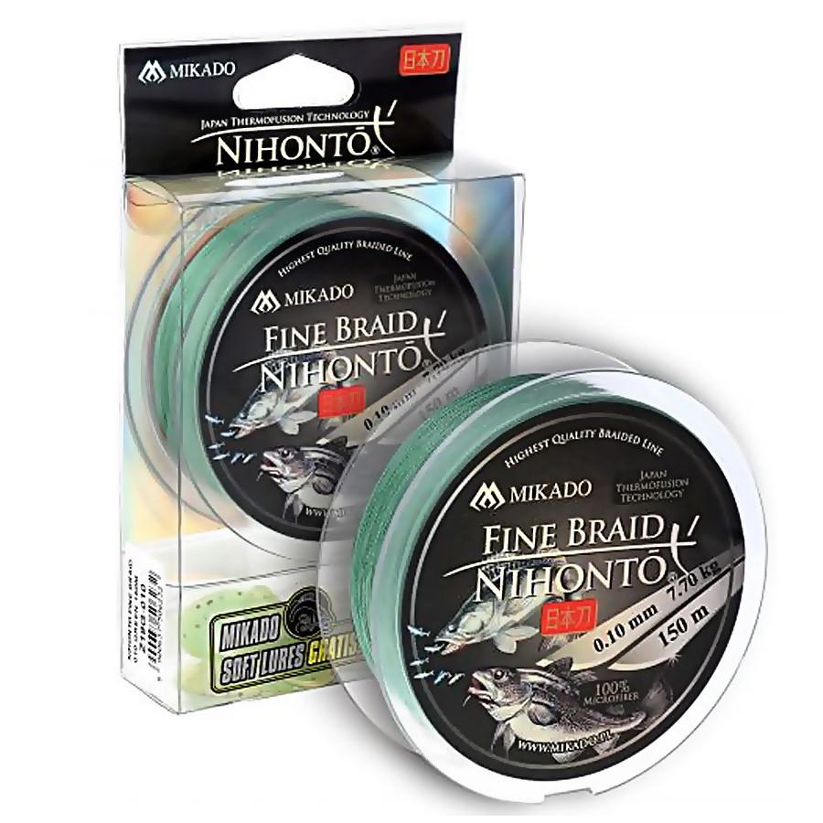 Шнур Mikado Nihonto Fine Braid 150м 0,50мм 41,80кг green