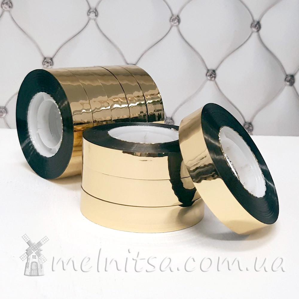 Скотч декоративный 12 мм, золотистый