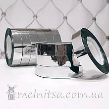 Скотч декоративный 12 мм, серебристый (50 м)
