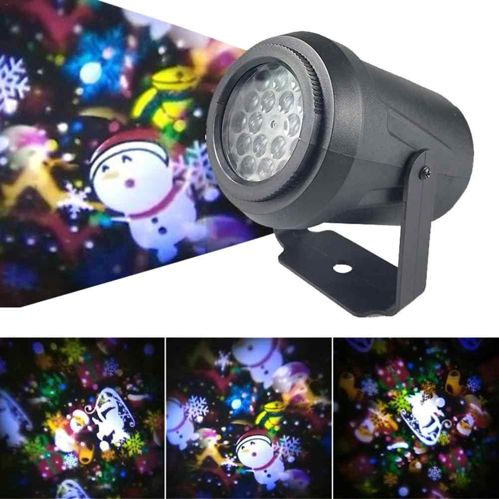 Светодиодный лазерный проектор с рождественским узором