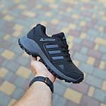 Чоловічі зимові кросівки Adidas Terrex (чорно-сірі) Термо 3515, фото 2