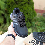 Чоловічі зимові кросівки Adidas Terrex (чорно-сірі) Термо 3515, фото 5