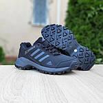 Чоловічі зимові кросівки Adidas Terrex (чорно-сірі) Термо 3515, фото 6