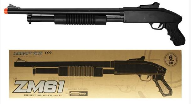 Игрушечная помповая, металлическая винтовка автомат для ребенка CYMA ZM61 на пульках