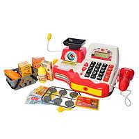 Детский игровой набор Магазинчик Кассовый аппарат,весы, сканер,продукты, деньги для девочки или мальчика.