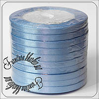 Лента атласная 7 мм голубого цвета