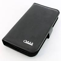 Чехол-книжка для Samsung Galaxy S Duos, S7562, кожаный, боковой, Gelaisi, черный /flip case/флип кейс /самсунг галакси/Samsung GT-S7562