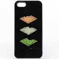 Чехол-накладка для Apple iPhone 5/5S, с камнями SWAROWSKI,  /case/кейс /айфон